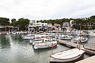 Spain, Mallorca, View of boats at Portopetro - AM000344