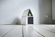 Laptop house with green apple - FMKYF000341