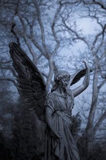 Germany, Cologne, Statue of angel at Melatenfriedhof - KJ000232