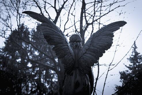 Germany, Cologne, Statue of angel at Melatenfriedhof - KJ000233