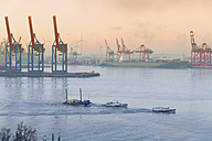 Germany, Hamburg, Container harbour at Elbchaussee - MS002956