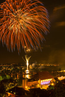 Germany, Constance, View of fireworks at Seenachtsfest - SH000746