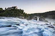 Switzerland, Schaffhausen, View of Rhine Falls with Laufen Castle - ELF000198
