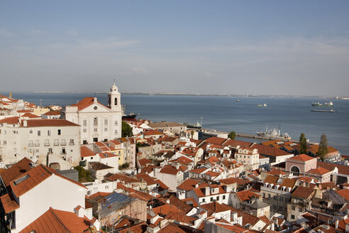 Portugal, Lisbon, View of Santo Estevao church near Tajo river - SKF001308