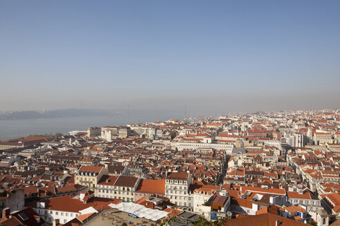 Portugal, Lisbon, View of crowded Portugal city - SKF001309