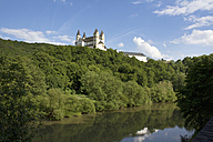 Germany, Rhineland Palatinate, View of Arnstein Abbey at Lahn River - CSF019712