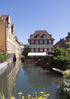 France, Colmar, View of Venice Petite with restaurant - AM000655