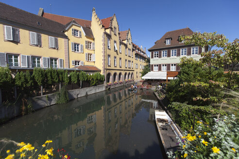 France, Colmar, View of Venice Petite with restaurant - AM000653