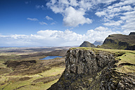 United Kingdom, Scotland, View of mountains at Quiraing - ELF000230