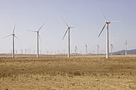Spain, View of wind turbine on field - SKF001376