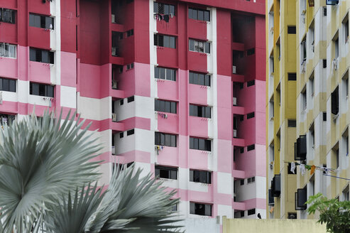 Asia, Singapore, Singapore, Rochor Centre, colourful housing - MIZ000440