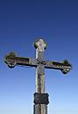 Germany, Bavaria, Summit cross against clear sky - LH000201