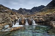 United Kingdom, Scotland, View of waterfall near Black Cuillin Hills - ELF000269