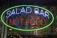 Neon sign salad bar hot food - SKF001502