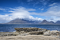 United Kingdom, Scotland, Isle of Skye,  View of Cuillin hills - ELF000287