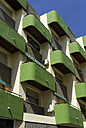Spain, Andalucia, Huelva, Costa de la Luz, green balconies in the city centre of Huelva - MIZ000413