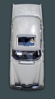 Germany, Hesse, Vintage car of Mercedes 190 Heckflosse - BSC000321