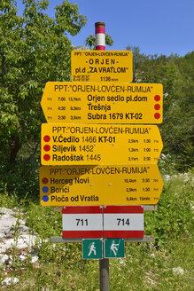 Montenegro, Waysign for hikers - ES000451
