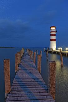 Austria, Burgenland, View of lighthouse at Lake Neusiedl - GF000152