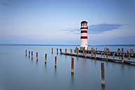 Austria, Burgenland, View of lighthouse at Lake Neusiedl - GF000146