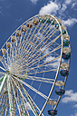 Germany, Baden Wuerttemberg, Laupheim, Ferris wheel in funfair - HA000166