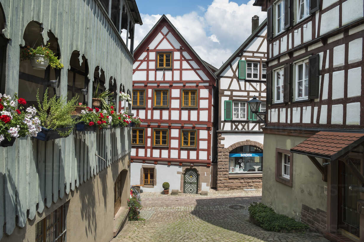 Germany Baden Wuerttemberg Half Timbered House In Staedtle Town Center El000317 Markus Keller Westend61