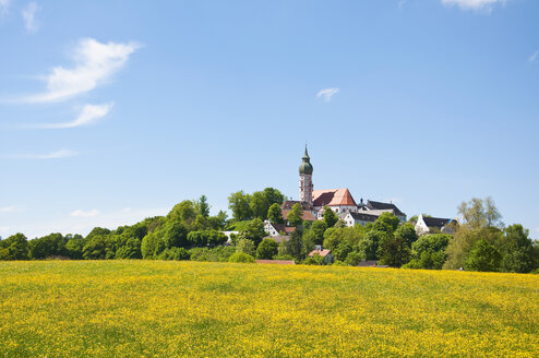 Germany, Bavaria, View of Andechs Abbey - UMF000623