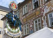 Germany, Bavaria, Coburg, View of beer garden - AM000749