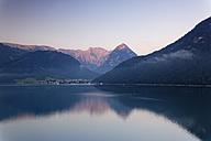 Austria, Tyrol, View of Pertisau at Achensee lake - GFF000192