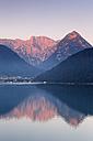 Austria, Tyrol, View of Pertisau at Achensee lake - GFF000189