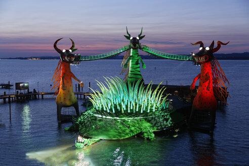 Austria, Vorarlberg, Bregenz, Dragons at Bregenz Festival - SIE004175