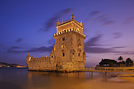 Portugal, Libson, Belem, View of Belem tower - RUE001119
