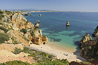 Portugal, Lagos, View of Praia Do Camilo - RUEF001125