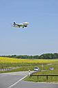 Switzerland. Zurich, Aeroplane landing at airport - RUE001146