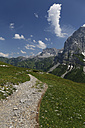 Austria, Tyrol, Karwendel Mountains, Path leading to the Falkenhuette, mountain cabin in Eng, Ahornboden region - GFF000217