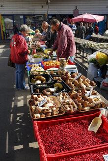 Latvia, Riga, market stall in front of the central market - MIZ000354