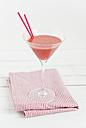Strawberry smoothie on napkin - CZF000003