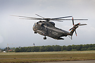 Germany, Baden Wuerttemberg, Laupheim. View of CH-53 helicopter taking off - HA000228