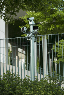 Germany, Berlin, Surveillance cameras at Federal Chancellery - FB000091