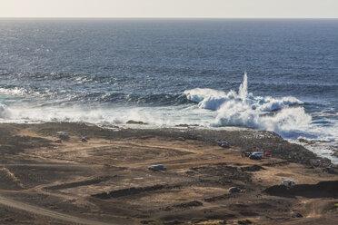 Spain, Las Palmas, Gran Canaria, Punta del Confital, View of Atlantic Coast - MAB000153
