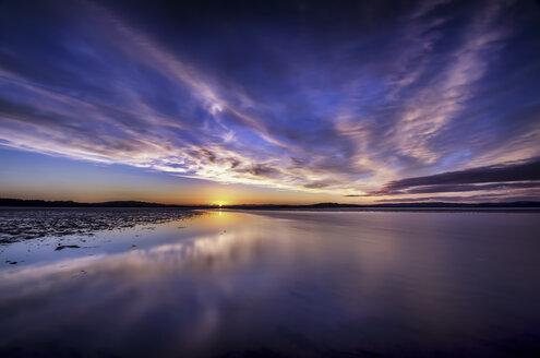 Scotland, Edinburgh, View of beach at sunset - SMAF000175