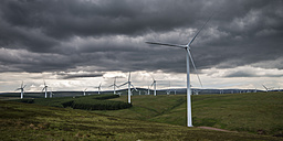 United Kingdom, Scotland, View of wind turbine at Dunbar - SMAF000161