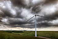 United Kingdom, Scotland, View of wind turbine at Dunbar - SMAF000155