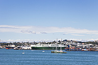 New Zealand, Auckland, View of  New Rainbow Warrior - GWF002390
