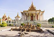 Cambodia, Phnom Penh, View of Silver Pagoda - MBE000694