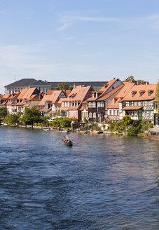 Gondola on the Regnitz at Little Venice, Bamberg, Bavaria, German - AM000905