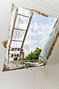 Old half-timbered family house getting new skylight window - ON000225