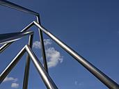 Germany, North Rhine Westphalia, Duesseldorf, Energy Pyramid against blue sky - HHE000053