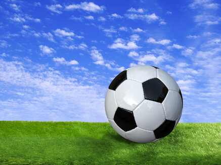 Composing, football on a meadow - BSCF000359