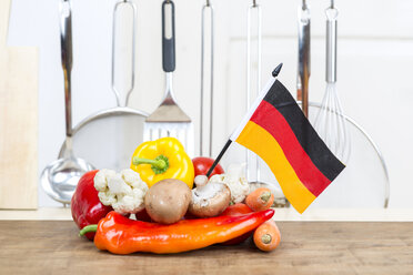 Different vegetables on a worktop in the kitchen - DR000152